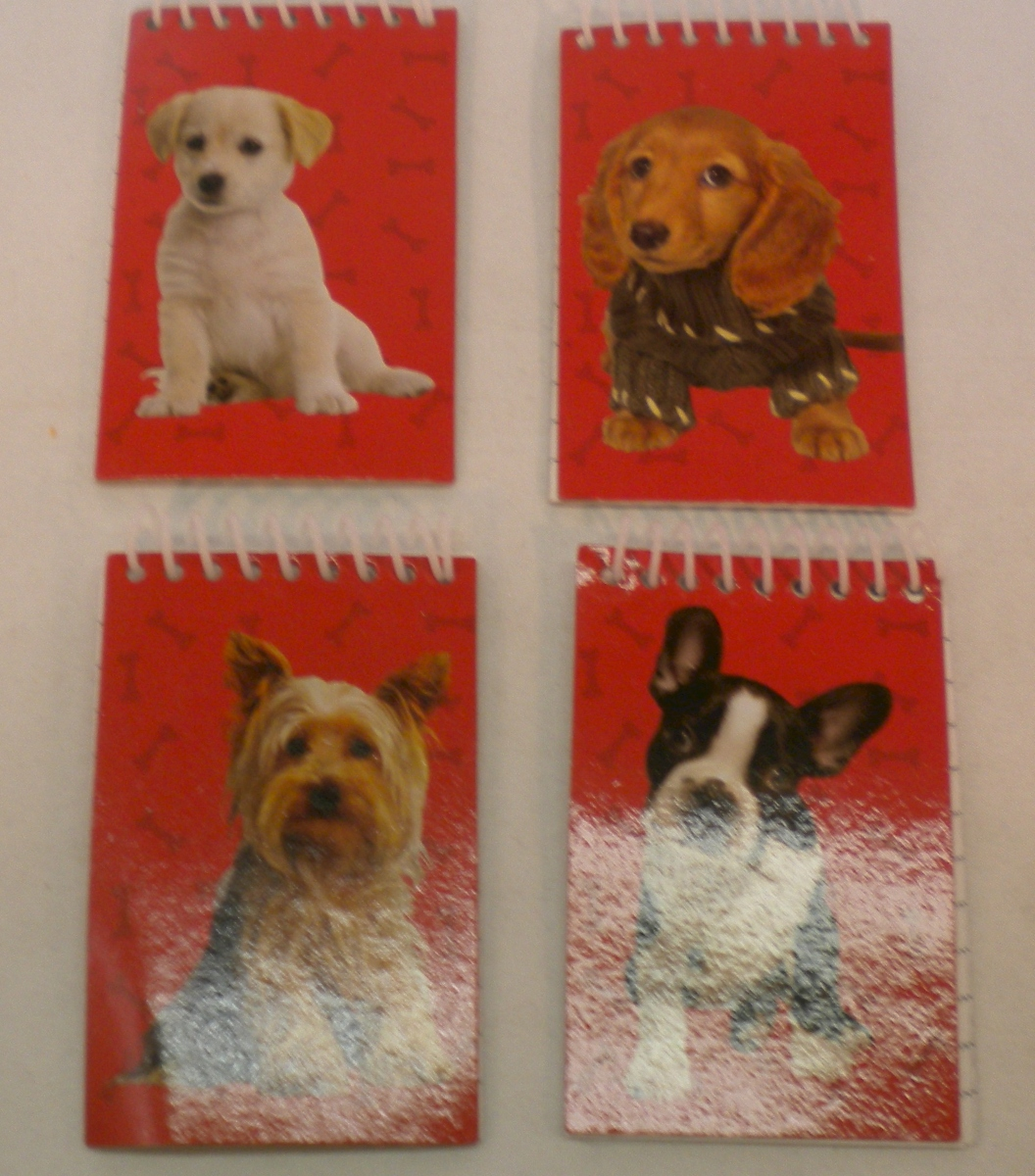 Dogs Mini Spiral NOTEBOOK Lot Of 24 NOTEBOOKs